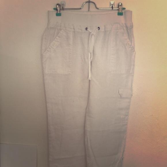 Pants - White linen pants